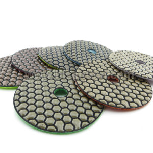 100mm Hook & Loop Back Diamond Flexible Dry Polishing Pads pictures & photos
