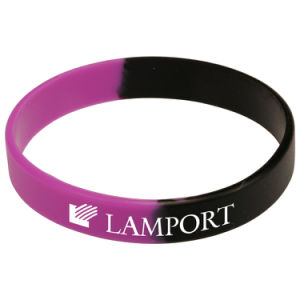 Supply Lowest Custom Silkscreen Slicone Bracelet pictures & photos