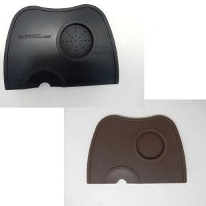 (Black/Brown Corner Pad/Mat) Coffee Tamper Pad Pressure Slip-Resistant Pad Tool