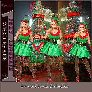 Green Babe Carnival Fancy Dress Santa Christmas Adult Costume (TDD80788) pictures & photos