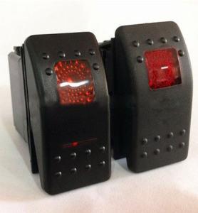 3V LED 12V-110V-250V Waterproof Momentary off- (ON) N/O Rocker Switch pictures & photos