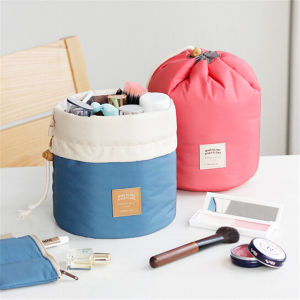 Unique Classic Design Waterproof Drawstring Cylindrical Multifunctional Travel Cosmetic Bags pictures & photos