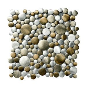 2017 New! Round Grain Stainless Steel Metal Mosaic pictures & photos