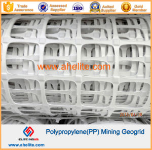 White Color PP Mining Geogrid with Flame-Retardant pictures & photos
