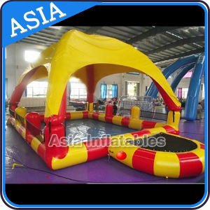 High Quality Inflatable Pool with Tent, Inflatable Swimming Pool Tent with Trampoline for Sale pictures & photos