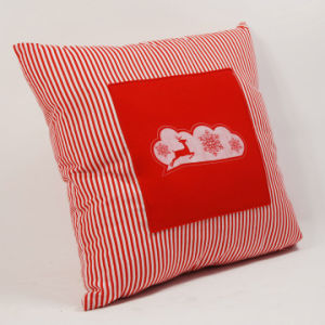 New Elk Christmas Cotton Cushion with Embreoidery pictures & photos