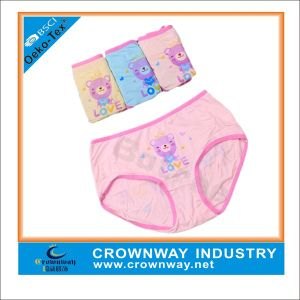 Girls Blue Cotton Hipster/Underwear with Teddy Bear Printing pictures & photos