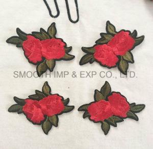 Promotion Fashion Rose Flower Applique 3D Clothing Embroidery Patch Cotton pictures & photos