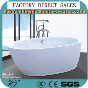 High Quality Acrylic Sanitary Ware Soaking Bathtub (641) pictures & photos