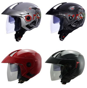 Double Visor Motorcycle Open Face Helmet