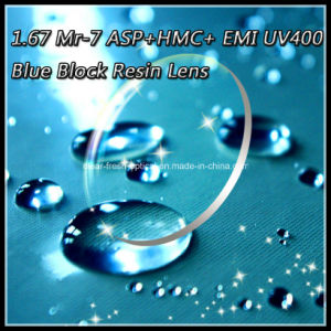 1.67 Mr-7 Asp+Hmc+ EMI UV400 Blue Block Resin Lens