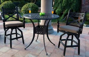 Cheap High Dining Cast Aluminum Garden Furniture pictures & photos