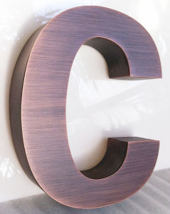 New! ! ! Non-Illuminated Red Cooper Plated Stainless Steel Metal Letter Sign for Advertising pictures & photos
