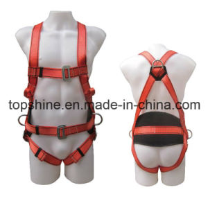 Newest Industrial Polyester Adjustable Professional Full-Body Harness Safety Belt pictures & photos