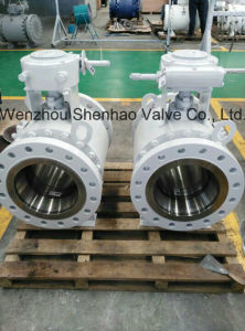 Cast Steel Flanged Three Piece Ball Valve
