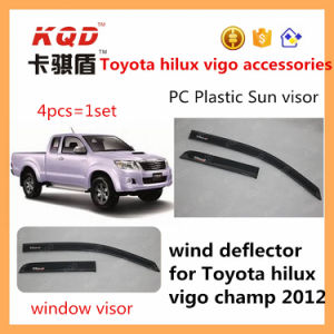 Auto Sun Visors for Cars Toyota Hilux 2012 Vigo Door Visor Plastic Window Visor for Hilux Vigo Champ Body Kits Wind Deflectors Window Rain Guard