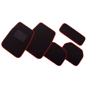 Black Color with Red Line Full Set Carpet Car Mat for Universal Cars pictures & photos