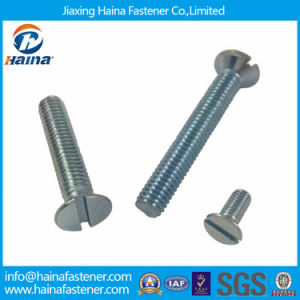 China Supplier DIN963 Zinc Plated Slotted Csk Head Machine Screws pictures & photos