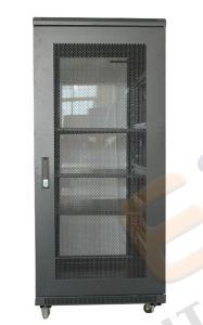 Vertical Standing Network Cabinet with Glass Door pictures & photos