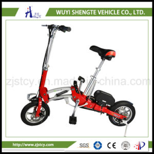 High Quality Red Ladies Small Folding Electric Bicycle pictures & photos