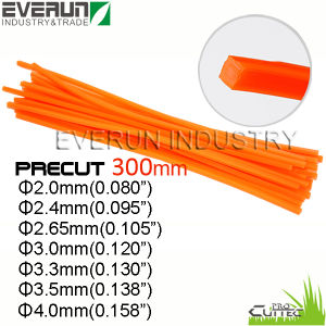 300mm Precut Brush Cutter Nylon Grass Trimmer Line pictures & photos