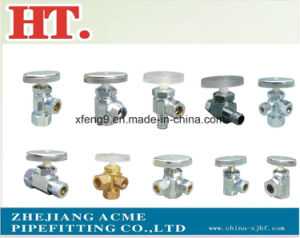 Chrome Plating Forged Flare Brass Angle Valve with Zinc Handle pictures & photos