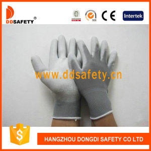 Ddsafety 2017 Nylon White PU Gloves Working Gloves pictures & photos