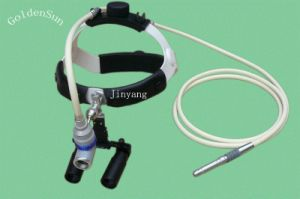 Surgical Fiber Optic Head Light with Magnifying Loupes for Surgeon pictures & photos