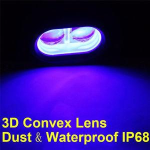 3D Lens 10W LED Forklift Truck Blue Warning Lamp 10-60V Spot Working Light
