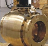 API 6D Big Size Gear Operate Forged Trunnion Ball Valve pictures & photos