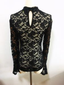 Women Fashion Clothing High Neck Flare Sleeve Clothes pictures & photos