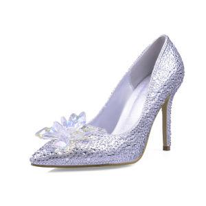 High Heel Sharp Toe Sexy Women Wedding Shoes