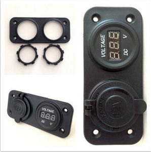 Waterproof Digital Voltmeters with Power Sockets for Automotive and Motorcycle and Cars pictures & photos