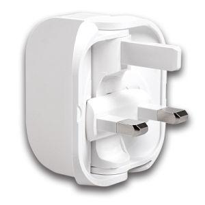 Nice Rotating Adapter UK Plug Mobile Phone Charger for Travel pictures & photos