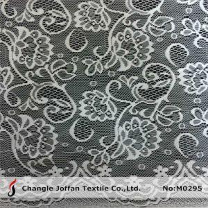 Textile Jacquard Mesh Lace Fabric for Sale (M0295) pictures & photos