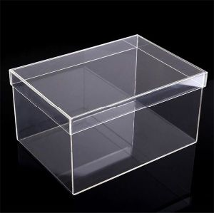 Clear Crystal Perspex Acrylic Shoe Display Box pictures & photos