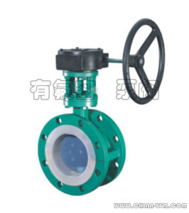 PFA Lined Flange Butterfly Valve for Oil Gas pictures & photos