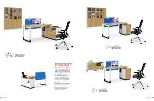 Modern Office Cubicle Workstation with Cabinet for Space Solution pictures & photos
