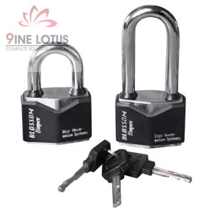 High Quality Diamond Type Plastic Covered Iron Padlock pictures & photos