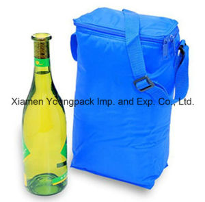 Promotional 210d Nylon Cloth Insulated Cooler Bag for Wine pictures & photos