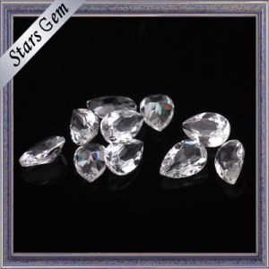 Clear White Pear Natural Brilliant Cut Topaz Gemstone for Jewelry pictures & photos