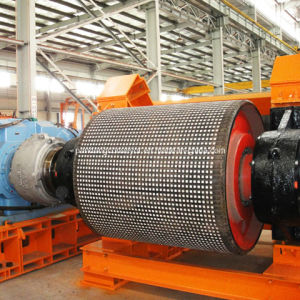 Ceramic Rubber Casting Conveyor Steel Pulley for Curved Belt Conveyor pictures & photos