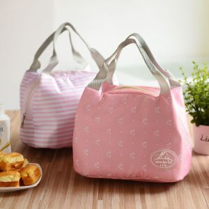 OEM Pink Design Polyester Lunch Bag pictures & photos