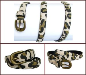 Leopard Print PU Casual Belt for Women pictures & photos