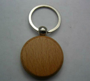 Beautiful Fashion Wood Coin Keychain pictures & photos