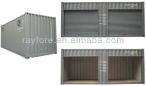 Black Roller Shutter Door Open Side Storage Containers for Transportation pictures & photos
