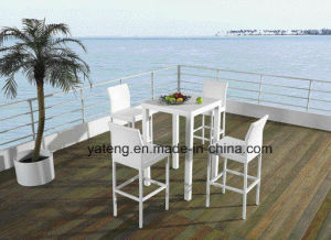 Outdoor Beach Bar Table Club Bar Table Waterproof PE Rattan Table (YTD249) pictures & photos