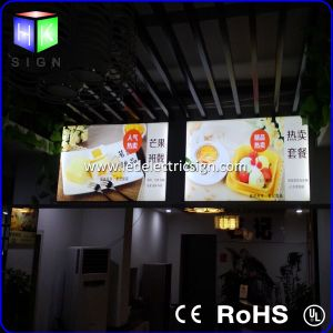 LED Menu with Light Box Menu Board for Restaurant Fast Food Picture Frame Sign pictures & photos