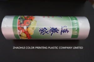 Transparent Flat Plastic Bags on Roll for Supermarket pictures & photos