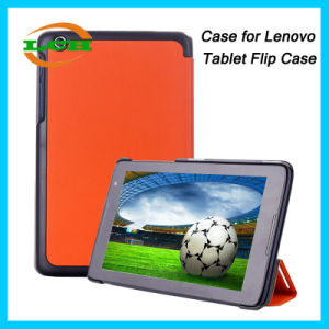 Ultrathin 3 Folds Flip PU Tablet PC Cover Case for Lenovo pictures & photos